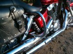 Honda Sabre 1100 Chrome Rear Crash Bars, Saddlebag Guards